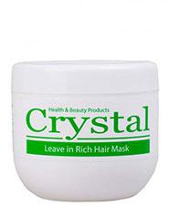 ماسک موی مغذی بدون آبکشی موهای خشک و آسیب دیده کریستال 500 میلی لیتری
