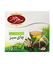 دمنوش چای سبز سحرخیز 12عددی