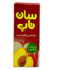 نوشیدنی میوه ه ای هلو و سیب سان تاپ 200سی سی