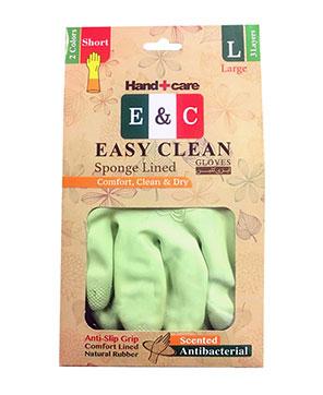 دستکش خانگی ساق کوتاه 3 لایه 2 رنگ سایز EASY CLEAN L