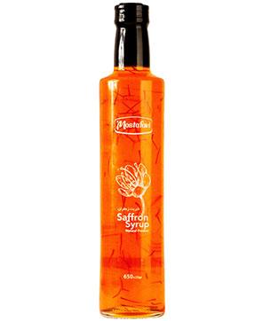 شربت زعفران شيشه استوانه اي مصطفوي 650 گرم