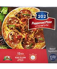 پیتزا پپرونی با نان ایتالیایی 202 مقدار 450 گرمی