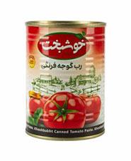 رب گوجه فرنگي قوطي خوشبخت 400 گرم