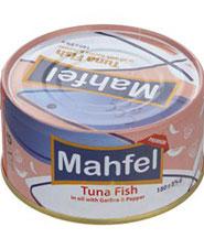 تن ماهی در روغن با سیر و فلفل محفل 180 گ