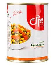 کنسرو مخلوط سبزیجات بیژن 380 گرمی