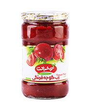 رب گوجه فرنگي شيشه اي خوشبخت 1.5 کيلويي