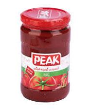 رب گوجه فرنگی 700 گرم شیشه PEAK