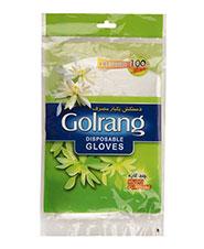 دستکش یکبار مصرف گلرنگ 100ع