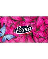 دستمال کاغذی 2 لایه طرح گل و پروانه پاپیا 150 برگ