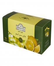 چای سبز کیسه ای لیمو احمد 25 عددی