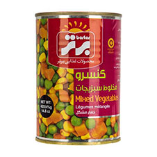 کنسرو مخلوط سبزیجات برتر 380 گرمی