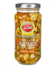 کنسرو مخلوط سبزیجات سحر 380 گرمی