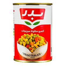 کنسرو مخلوط سبزیجات بدر 430 گرمی