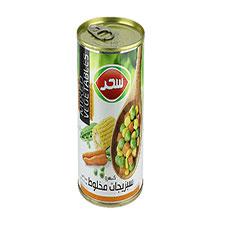 کنسرو مخلوط سبزیجات سحر 410 گرمی