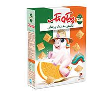غلات صبحانه بالشتی پرتقالی تک ماکارون 375 گرمی