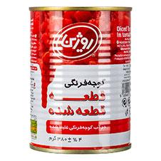 گوجه خرد شده روژین 380 گرمی