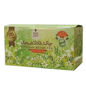 چای کیسه ای بهارنارنج رفاه لاهیجان 20 عددی