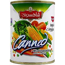 کنسرو مخلوط سبزیجات شاهسوند 370 گرمی