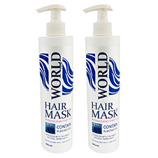 ماسک موی بادام ورلدکالر 500 میلی لیتری