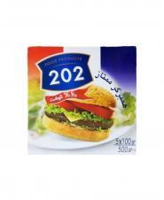 همبرگرممتاز 60% گوشت 202 وزن 500 گرمی