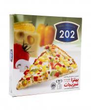 پیتزا سبزیجات جعبه مقوایی 202  وزن 450 گرمی