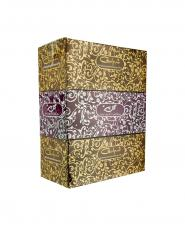 دستمال کاغذی طلاکوب گلپر طرح رویال 3 تایی 400 برگ