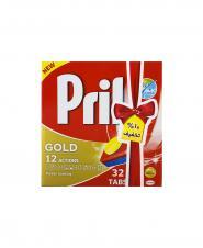 قرص ظرفشویی طلایی پریل بدون فسفات نوروزی 32 عددی 756 گرمی
