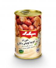 کنسروخوراک لوبیا چیتی با قارچ بدر ۴۳۰ گرمی