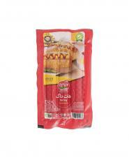 سوسيس هات داگ گوشت بسته وكيومي کاله آمل 300 گرمی
