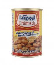 کنسرو خوراک لوبیا با قارچ قوطی اروم آدا 450 گرمی