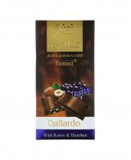شکلات فرمند تابلت گالاردو مغز فندق و کشمش 100 گرمی
