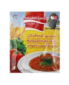سوپ جو و گوجه فرنگی آماده لذیذ 65 گرمی