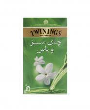 چای کیسه ای سبز و یاس توینینگز 20 عددی