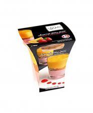 ترايفل کاله پرتقال توت فرنگی با ويفر شکلاتی کاله