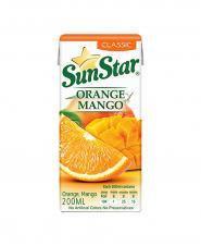 آبميوه پرتقال و انبه کلاسيک سان استار 200 میلی لیتری