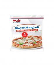 خمیر پیتزا گرد با آرد جو نان مزرعه