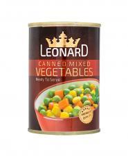 کنسرو سبزيجات قوطي لئونارد 420 گرمی