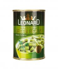 کنسرو لوبیا سبز قوطی لئونارد 420 گرمی