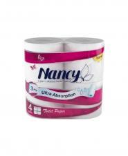 دستمال حوله کاغذی نانسی 3 لایه 4 رول