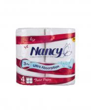 دستمال توالت نانسی 3 لایه 4 رول