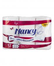 دستمال توالت نانسی 3 لایه 12 رول