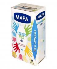 دستکش رنگی یکبار مصرف  متوسط 30 عددی مپا