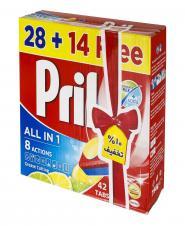 قرص ماشین ظرفشویی لیمویی 42 عددی پریل
