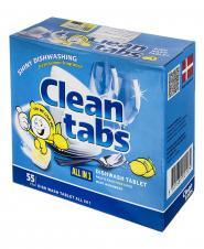 قرص ماشین ظرفشویی همه کاره لیمویی 55 عددی کلینتبز