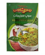 سوپ سبزیجات 75 گرمی مهنام