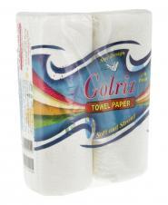 دستمال حولهای گلدار 2 رول گلریز