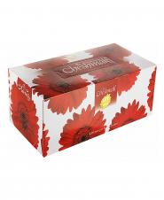 دستمال کاغذی مینا قرمز دو لایه 150 برگ چشمک