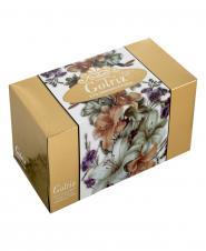 دستمال کاغذی گلدار طلایی سه لایه 100 برگ گلریز