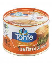 کنسرو ماهی تن با روغن سویا 180 گرمی تحفه