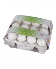 تخم مرغ 12 عددی زرده طلایی